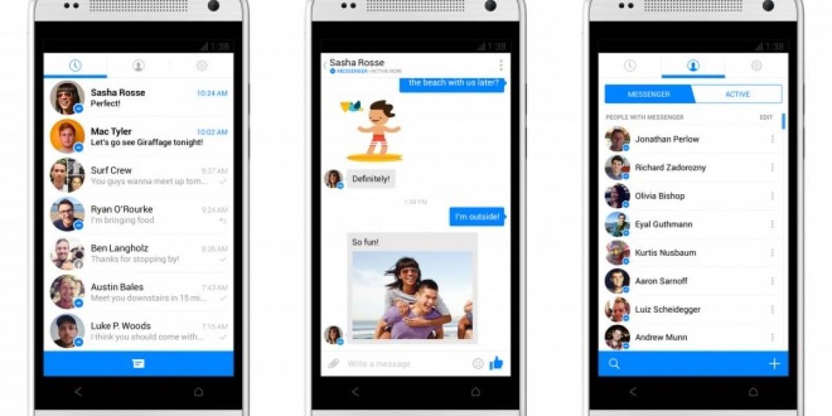 Facebook te invita a participar de la beta pública de Messenger para Android