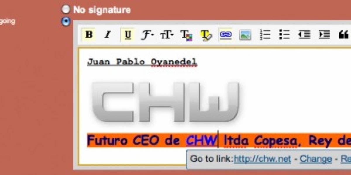 Gmail permite darle vida a las firmas