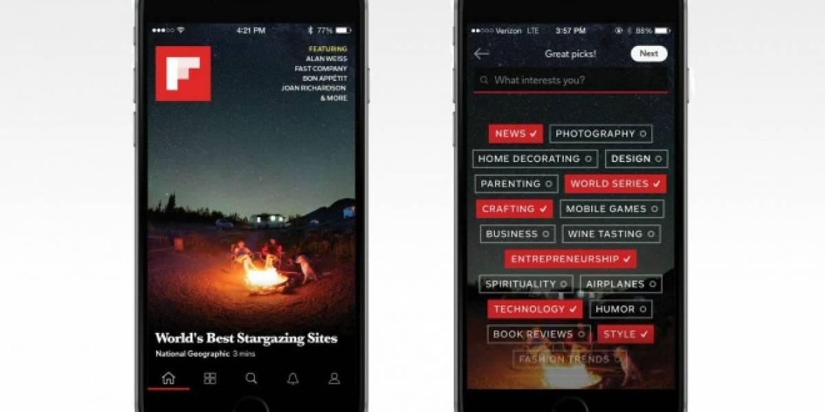 Flipboard se actualiza para mejorar su versión de iPhone y Android