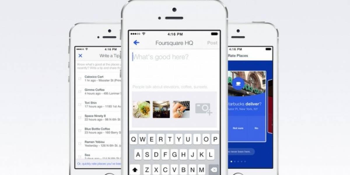 El nuevo Foursquare te recomienda solo lo más relevante que te guste