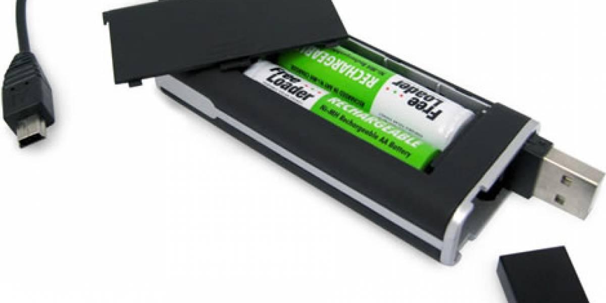 Cargador de pilas USB de Freeloader