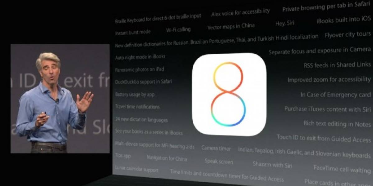 Características y funciones de iOS 8 no presentadas en #WWDC2014