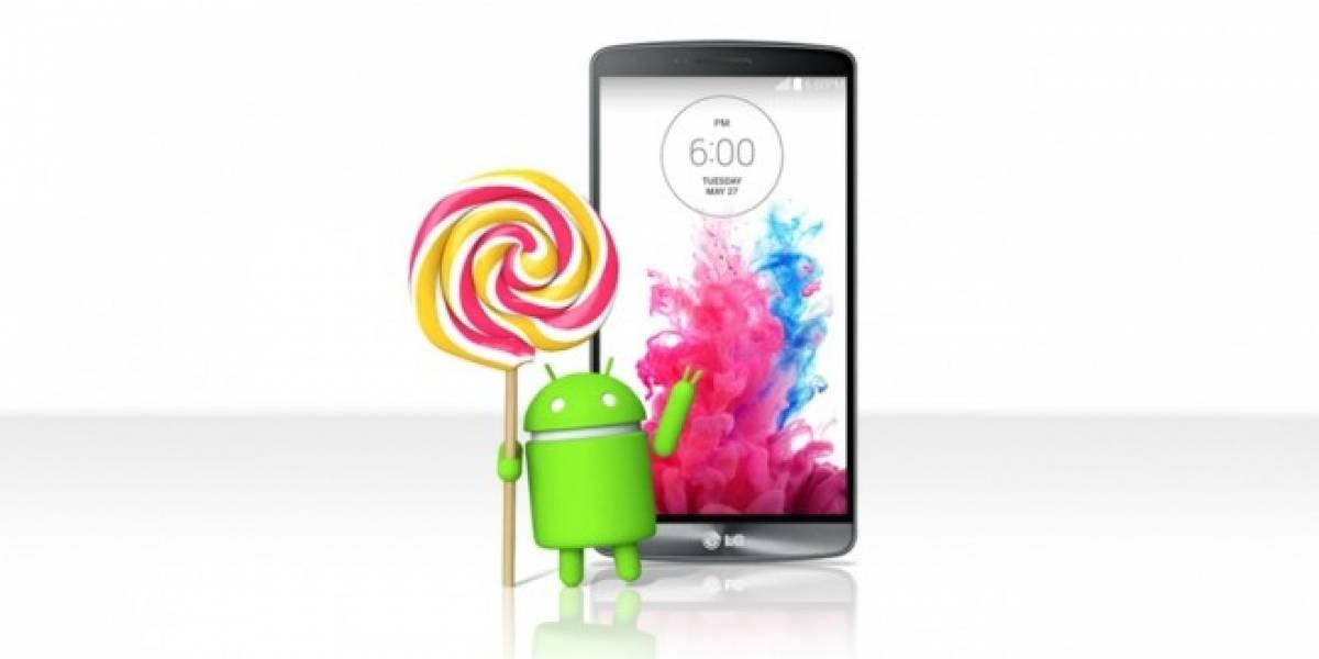 LG G3 recibe Android Lollipop esta semana y filtran ROM