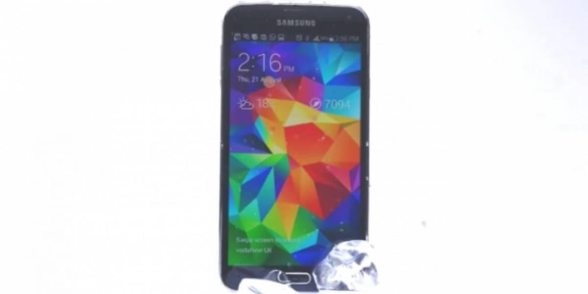 Samsung Galaxy S5 se lanza al Reto de la Cubeta de Hielo y reta al iPhone 5s