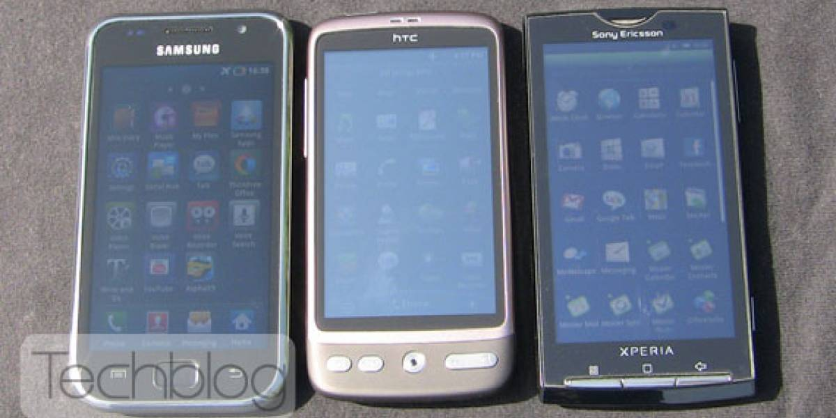 Super AMOLED comparado con LCD en luz solar directa
