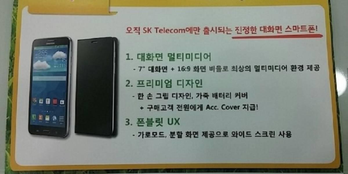 Samsung aparentemente lanzará un smartphone con pantalla de siete pulgadas