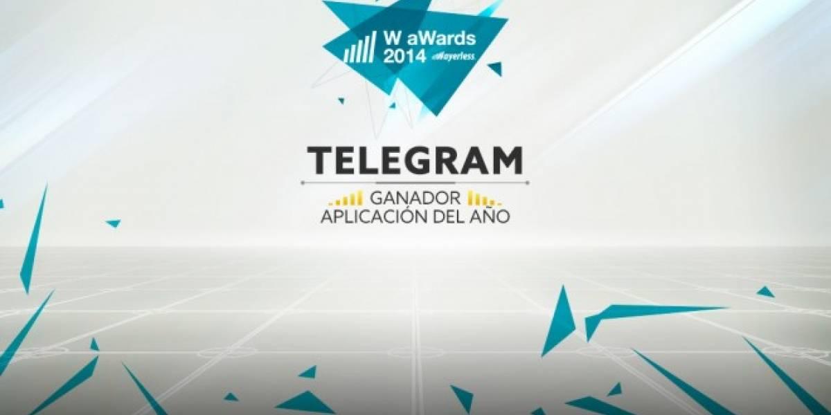 Telegram es la Mejor Aplicación del 2014 [W aWards]