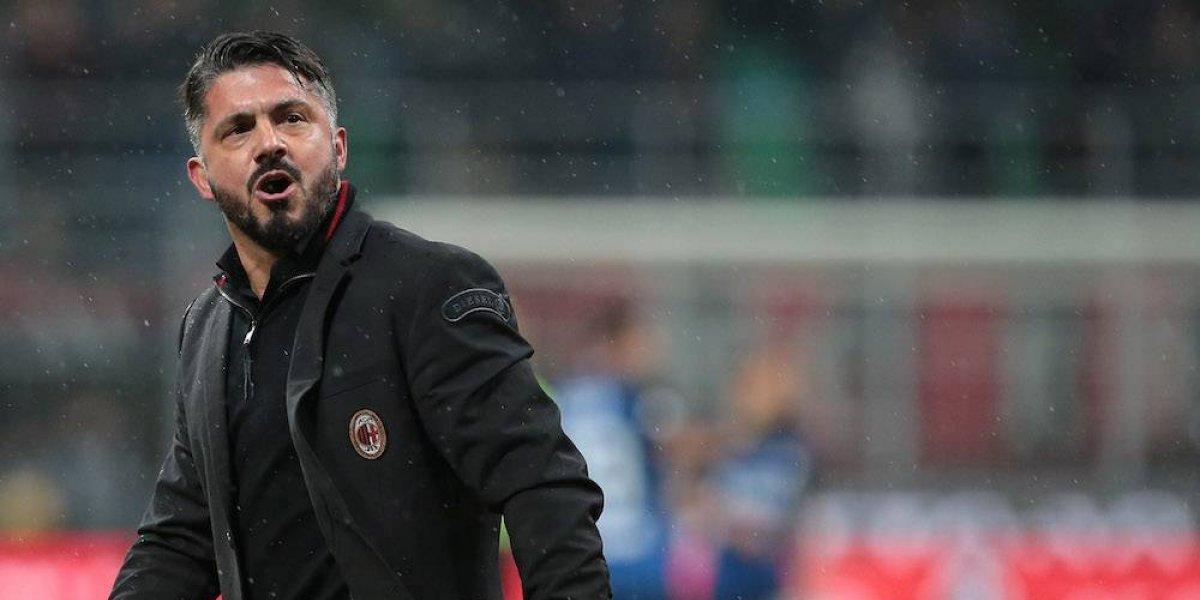 Gattuso le manda un beso de lengua a Buffon