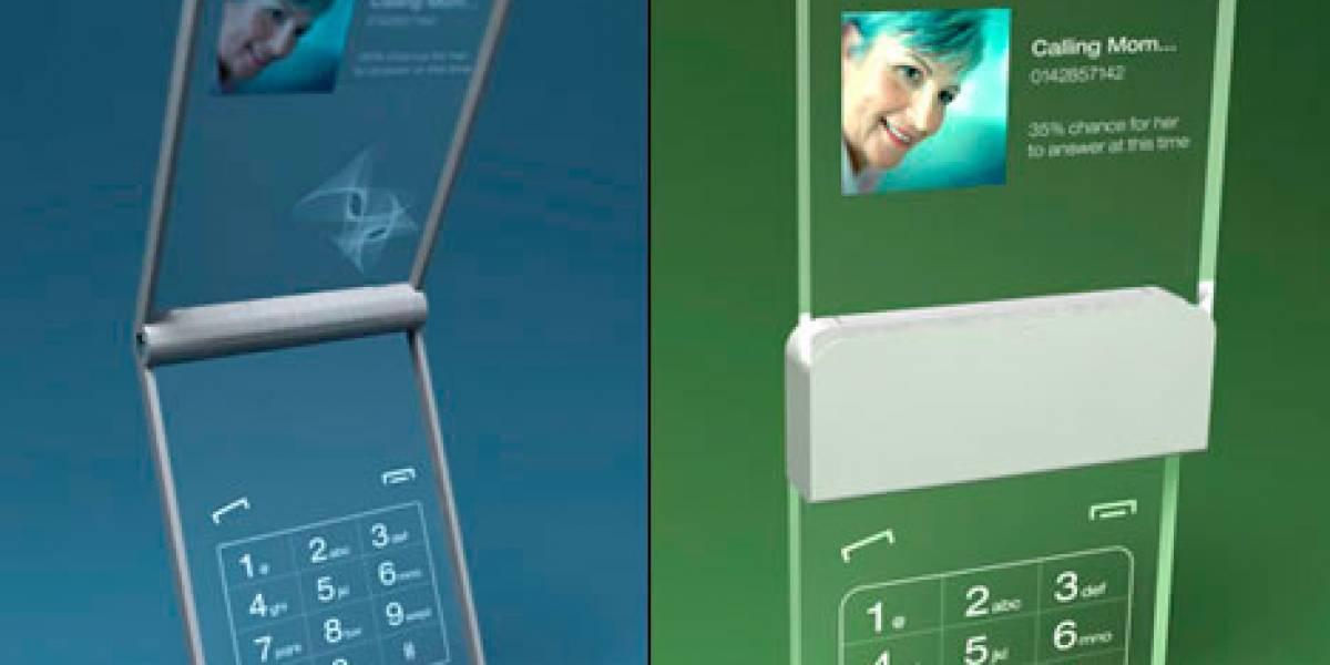 Concepto: Un teléfono de cristal