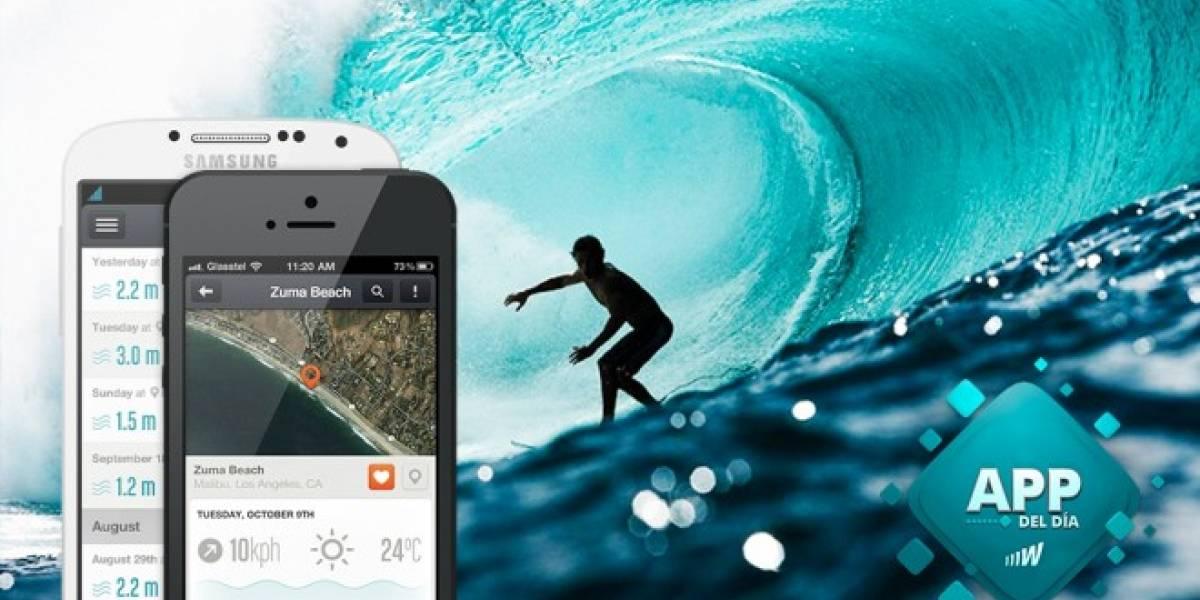 Sigue tus sesiones de Surf con Glassy Pro [App del día]