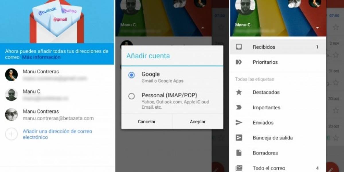 Gmail 5.0 para Android ahora tiene soporte para cuentas POP/IMAP
