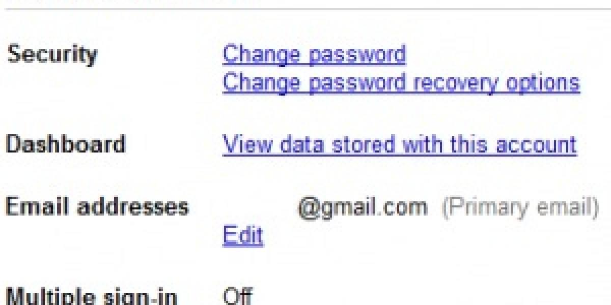 Google activa inicio múltiple de cuentas para sus servicios