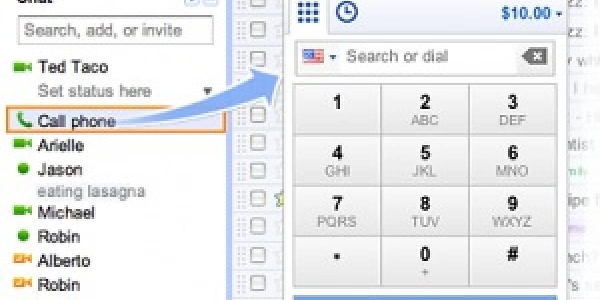 Google permite llamar por teléfono usando Gmail