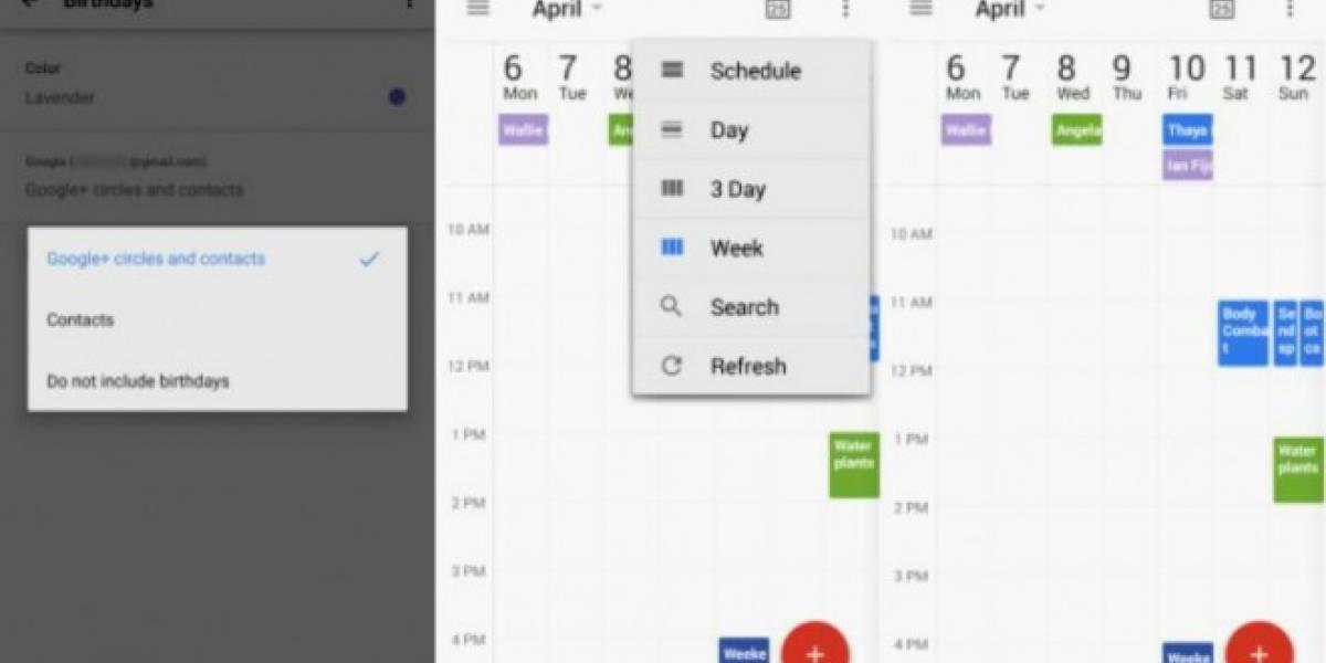 Google Calendar se actualiza con vista semanal para teléfonos en Android
