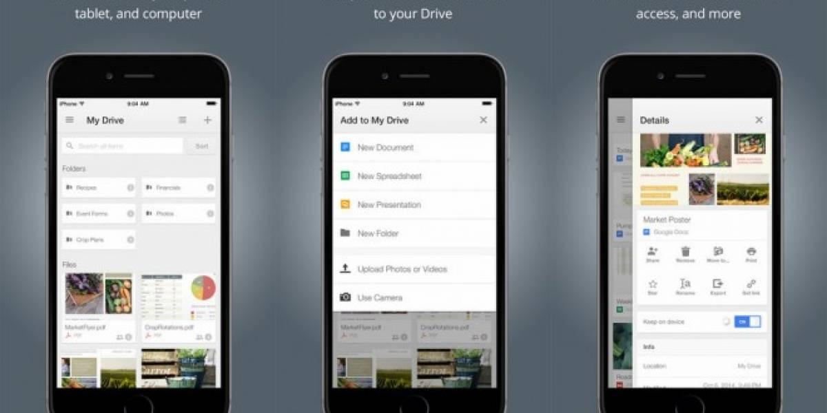 Google Drive para iOS ahora es compatible con Touch ID y te permite descargar videos