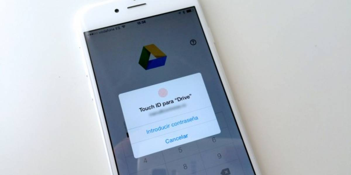 Google Drive en iOS 8 puede usar Touch ID