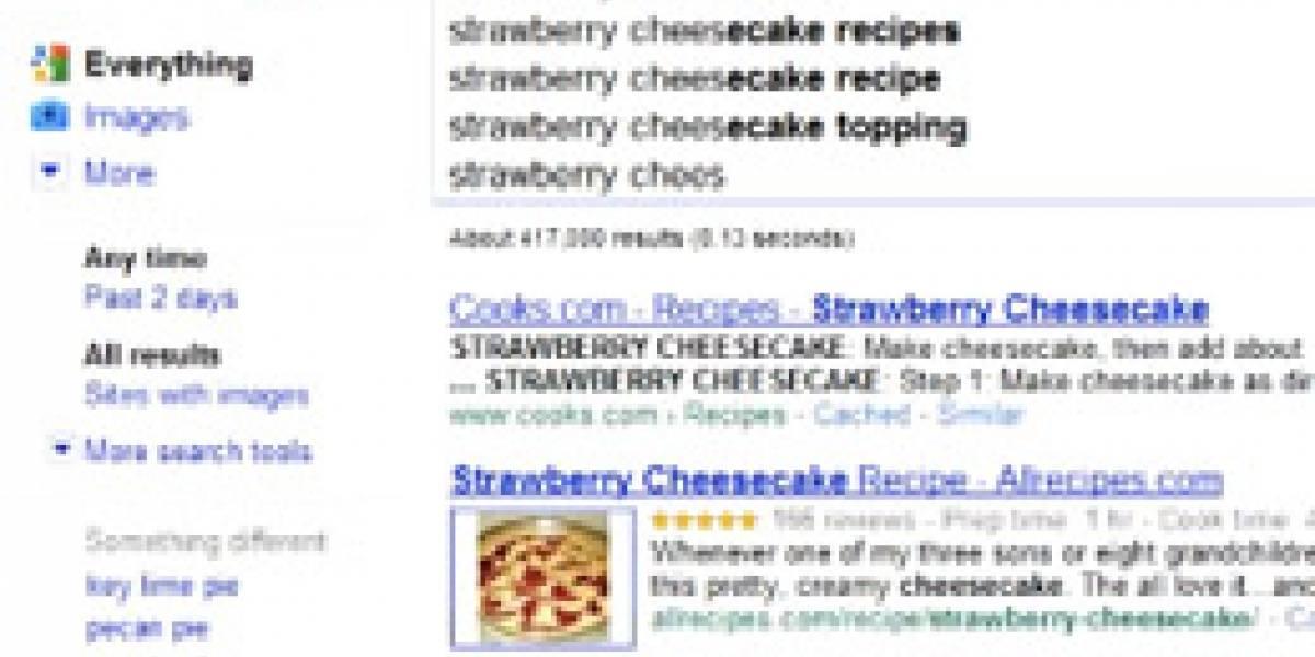 Google está probando funcionalidad: encuentra mientras escribes