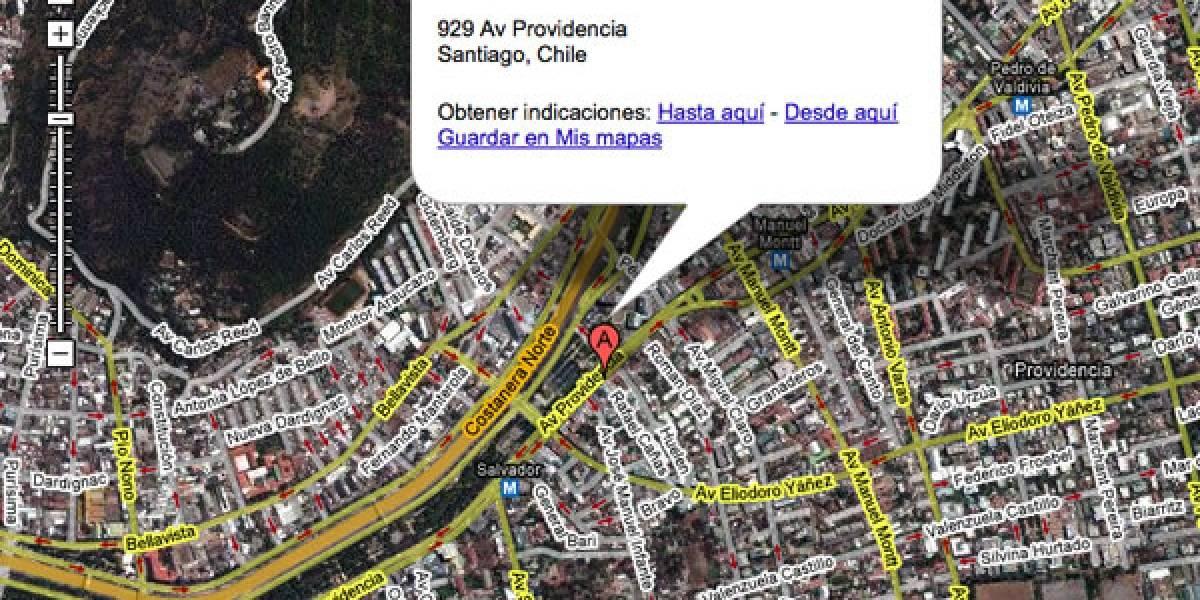 Google Maps ya busca direcciones en Chile