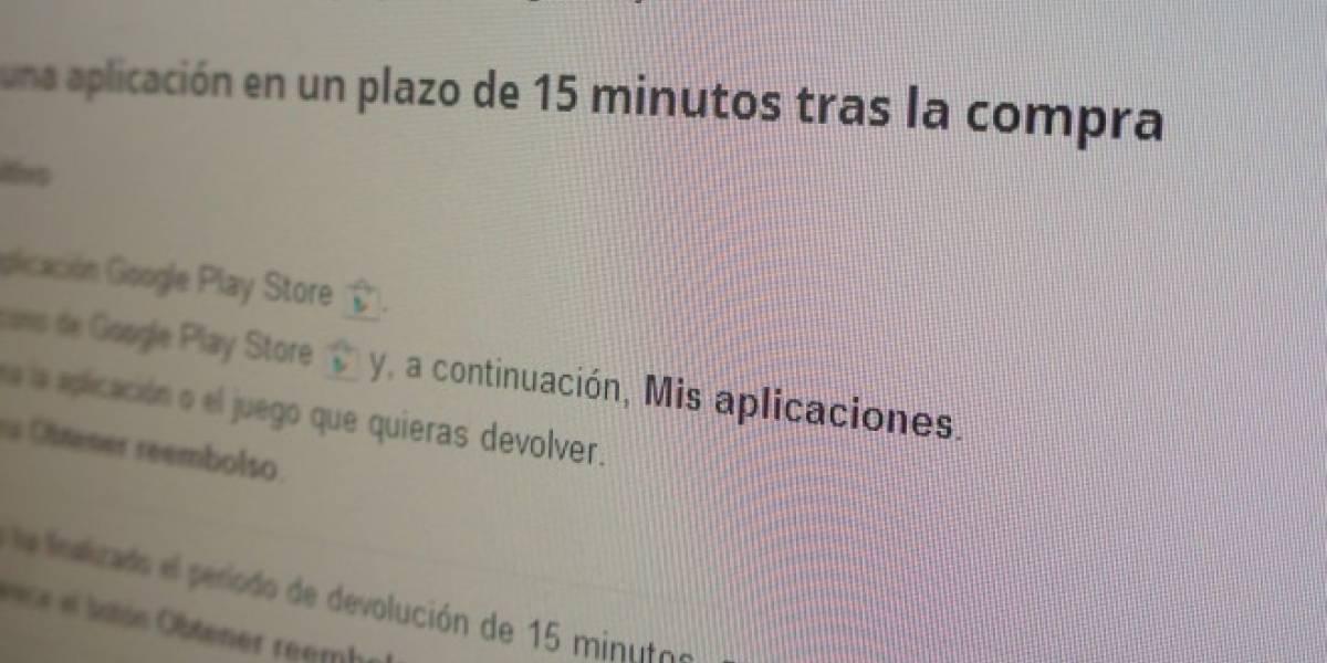Habrían aumentado a dos horas periodo para solicitar devolución de dinero en Google Play