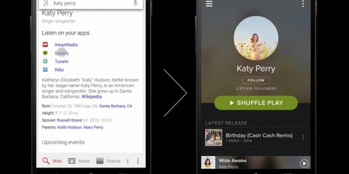 Google Search para Android te deja buscar bandas y tocar su música en la app correspondiente