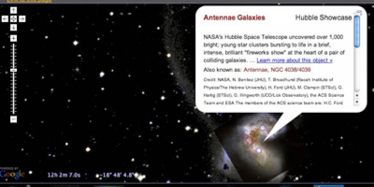 Transforma tu navegador en una nave espacial con Google Sky