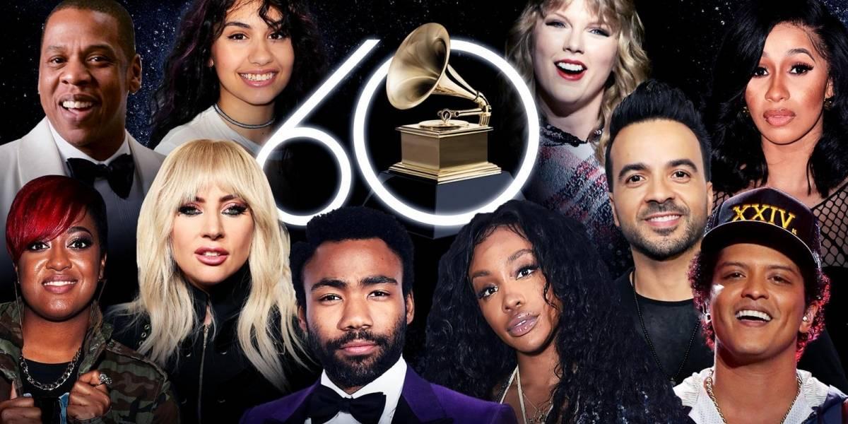 Conoce a los favoritos para llevarse el Grammy 2018
