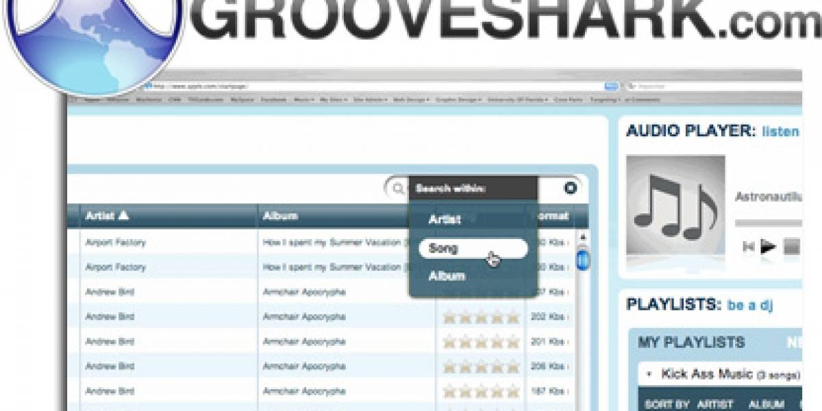 FW Exclusivo: 500 Invitaciones para GrooveShark y MP3 sin DRM gratis! [Actualizado]