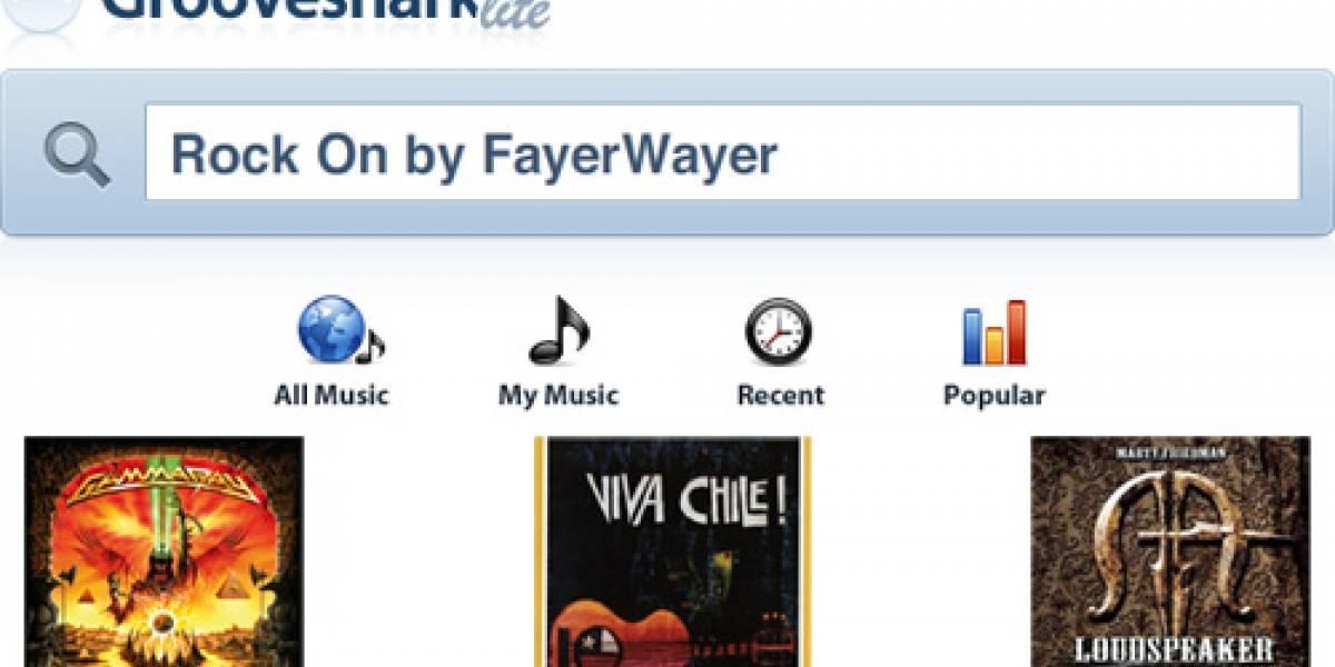 FW Exclusivo: GrooveShark Lite música a pedido gratis
