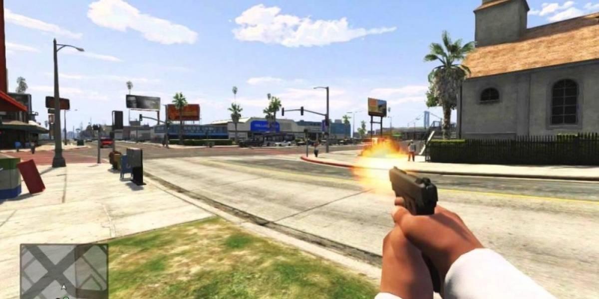 Así se ve Grand Theft Auto V en primera persona