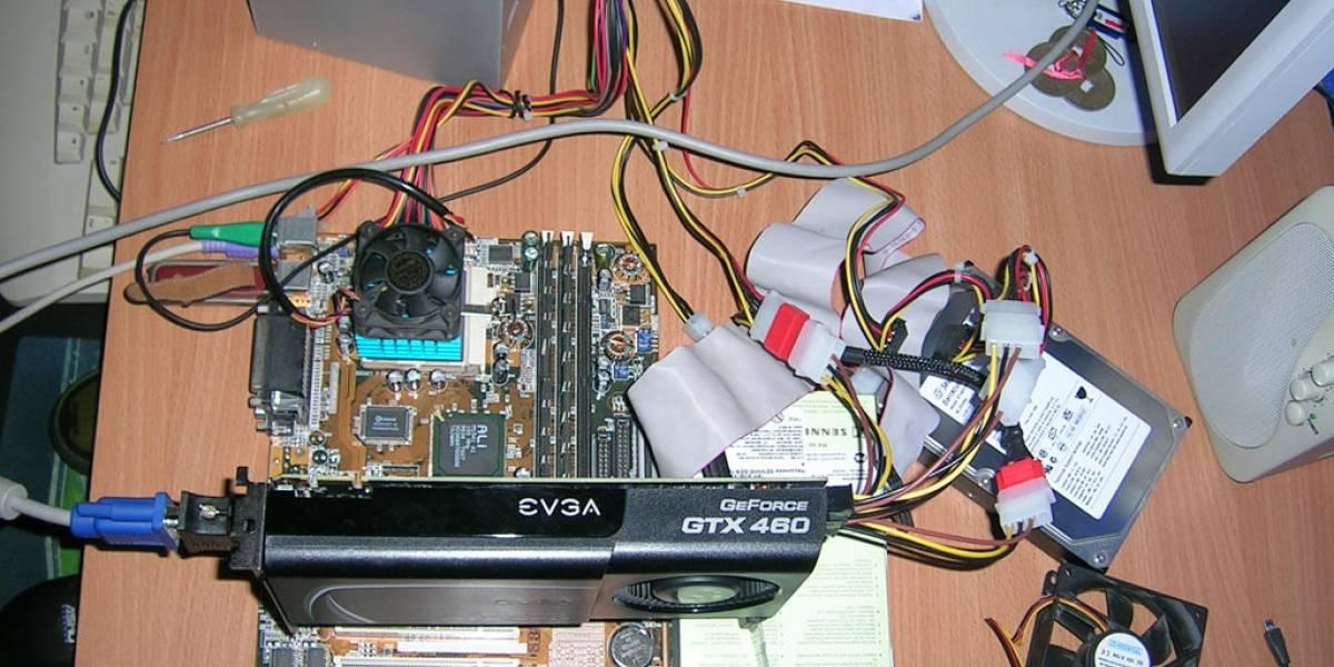 EVGA Geforce GTX 460: Benchmark en CPUs Pentium MMX y K6 2+