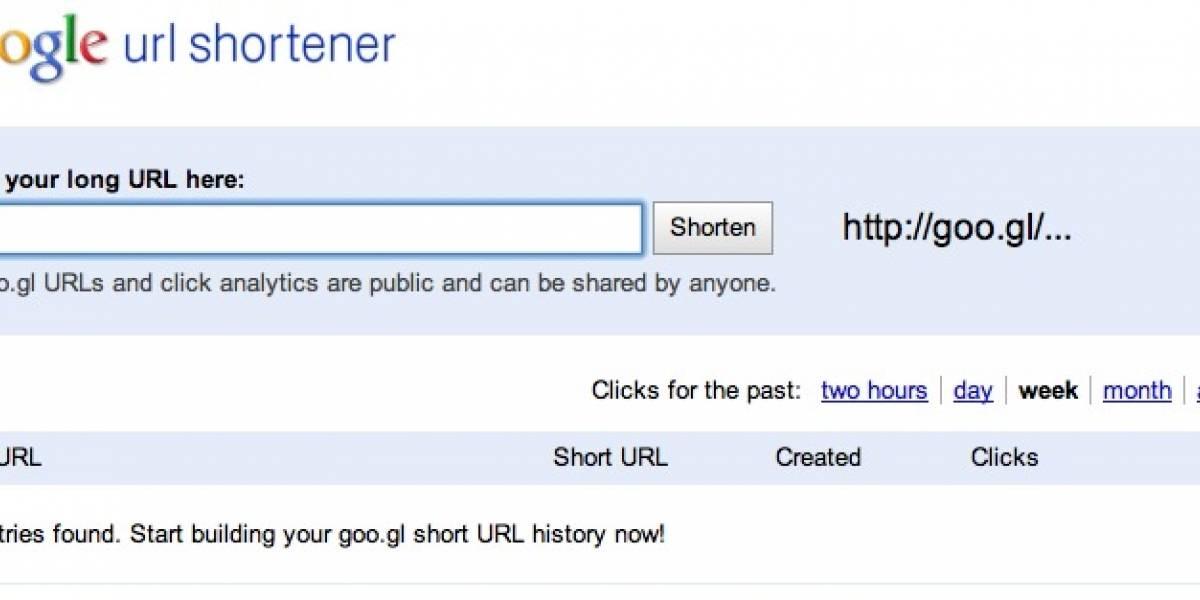 Acortador de URLs de Google ahora disponible para las masas