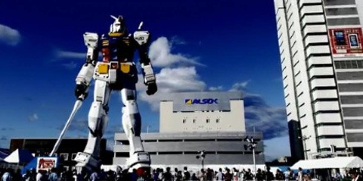 Gundam gigante y el paso del tiempo (Video)