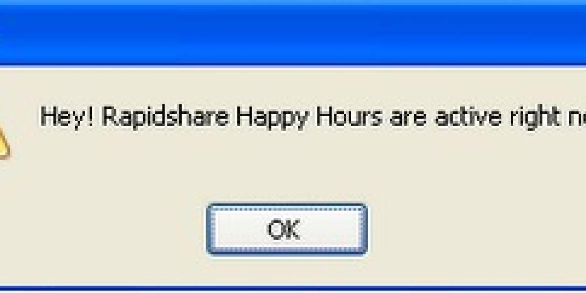 HappyChecker: Para no perderse las horas felices de RapidShare