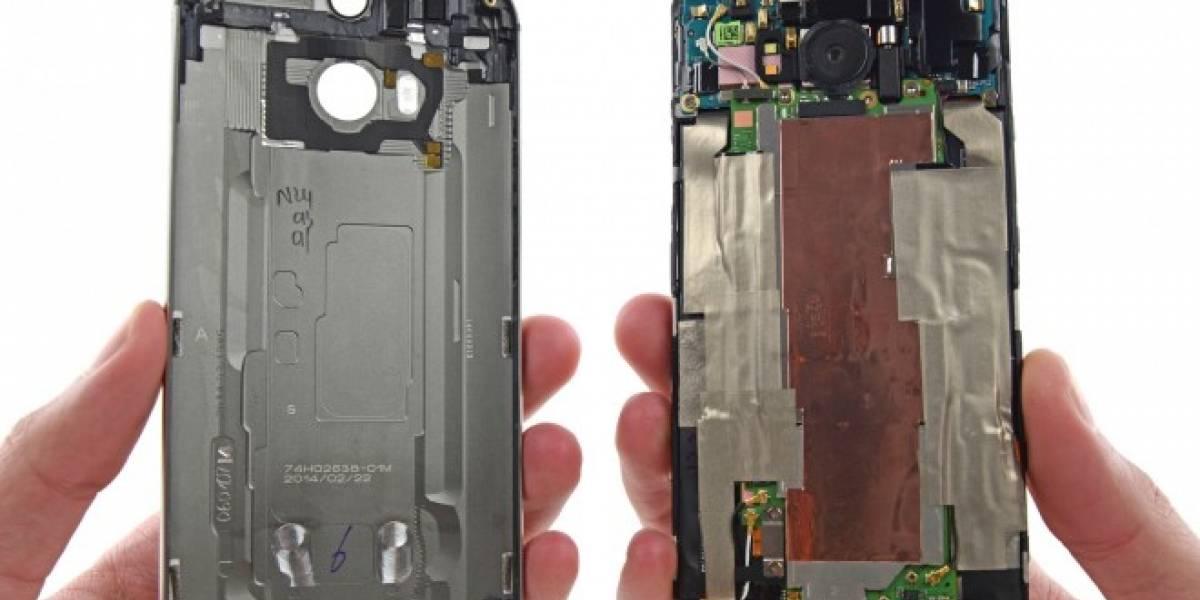 Desarman al HTC One (M8) y descubren que es muy difícil de reparar