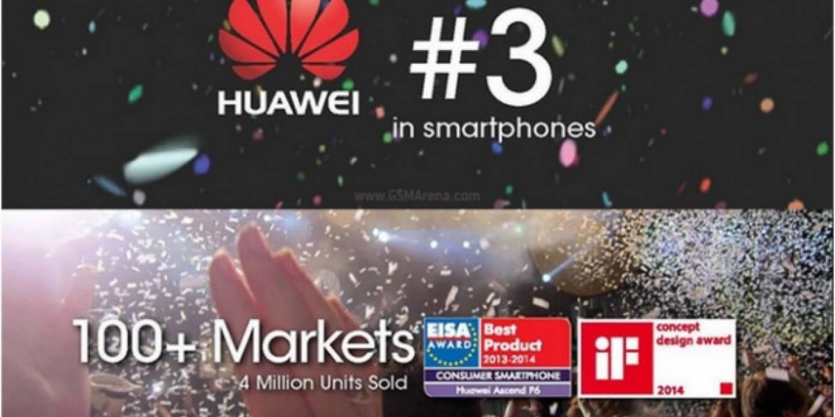 Huawei es ahora el tercer mayor fabricante de smartphones