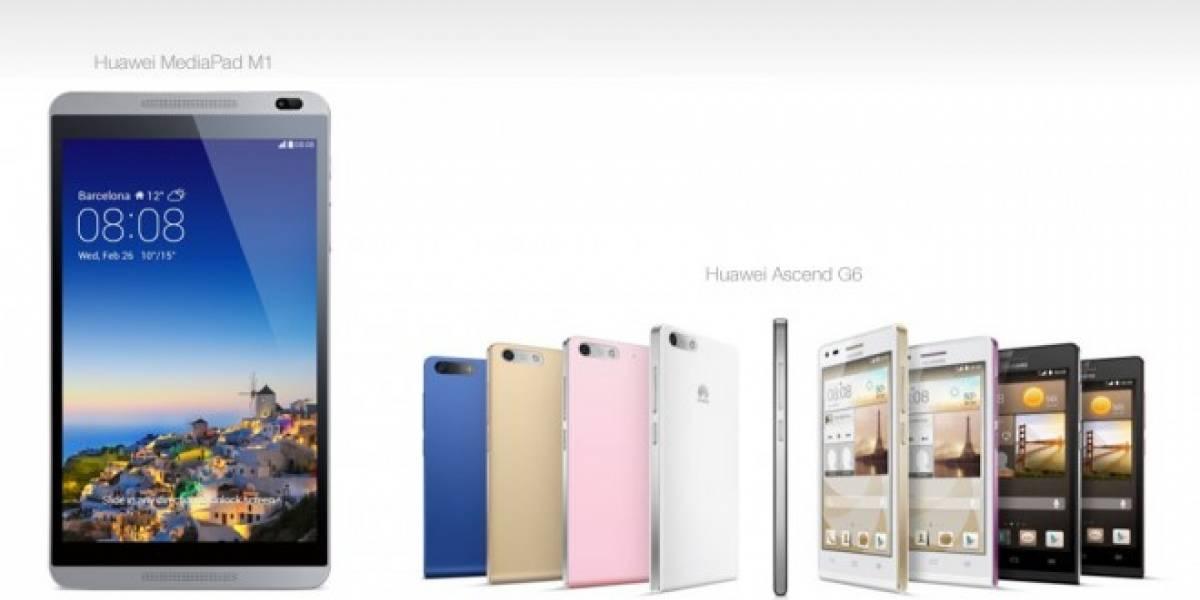 Huawei presenta Ascend G6 y MediaPad M1 con LTE de 150Mbps #MWC2014