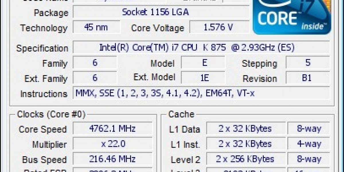 Unknown Team logra nuevo récord mundial de frecuencia por aire en Core i7 875k