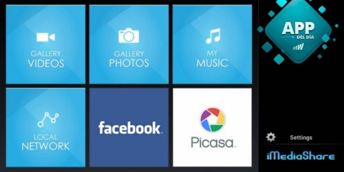 iMediaShare transmite contenido de tu smartphone al televisor [App del día]
