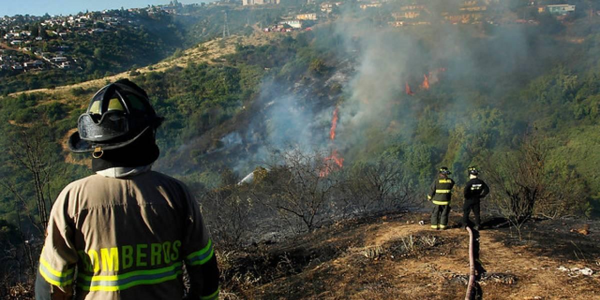 Onemi decreta dos alertas rojas por incendios en la Región de Valparaíso