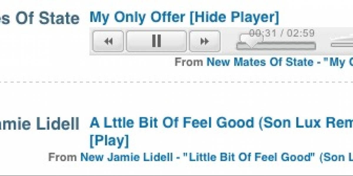 Inline MP3 Player: Escucha música en cualquier sitio web sin descargar nada
