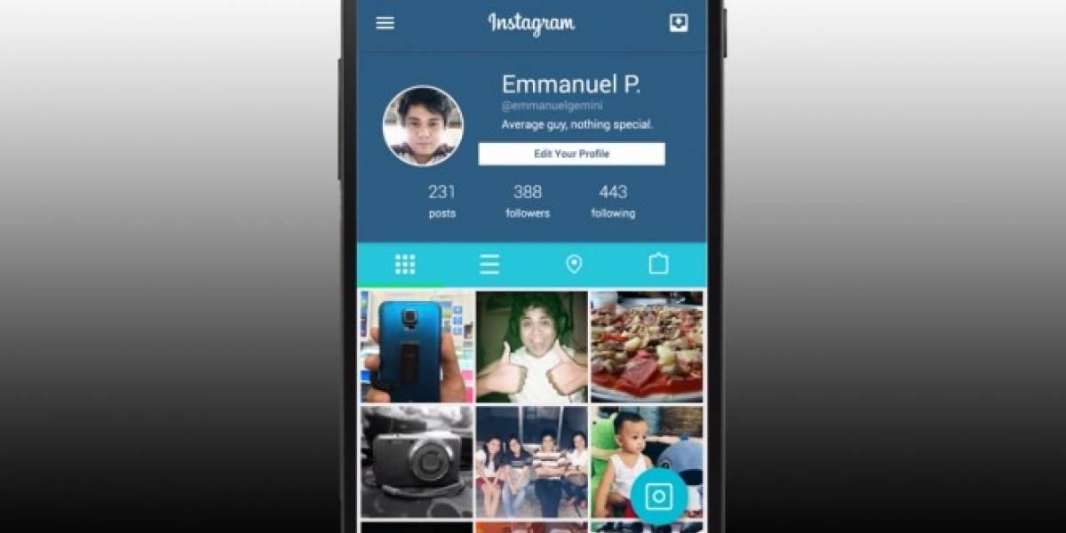 Así podría verse Instagram para Android con la interfaz Material Design