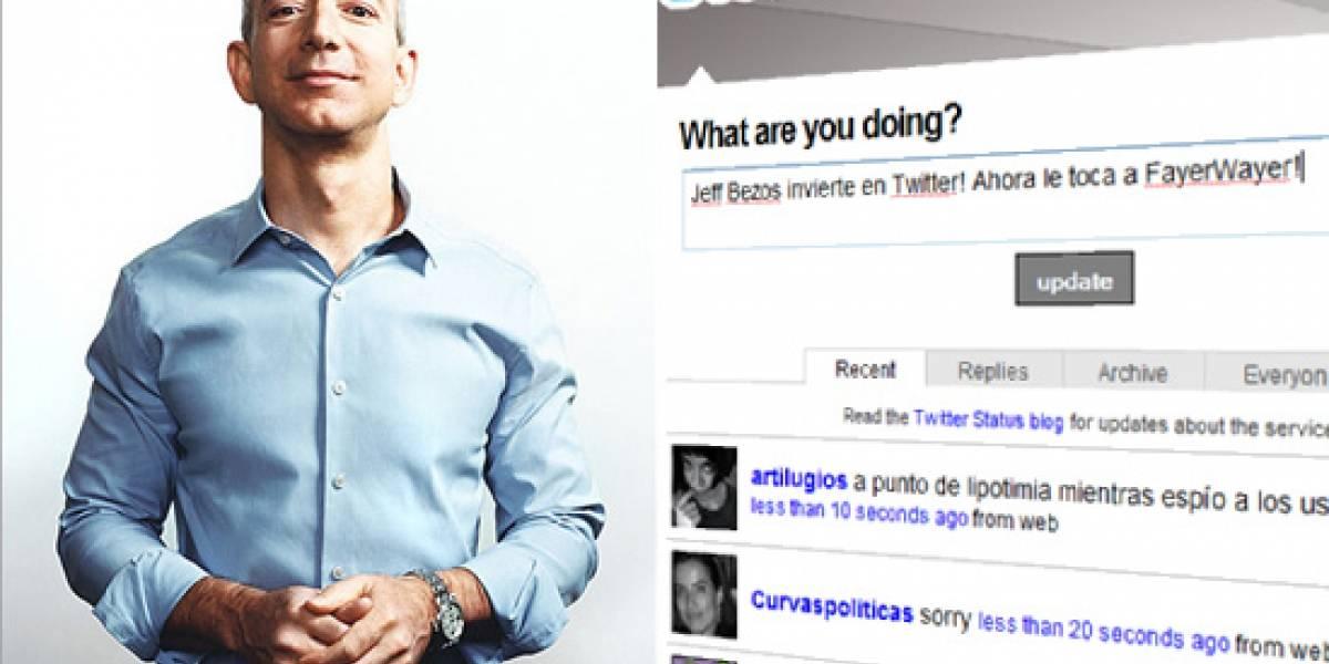 Twitter recibe la mejor de las ayudas: Dinero y Bezos