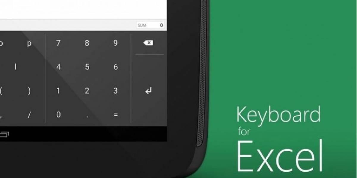 Microsoft lanza un teclado para usuarios de Excel en Android