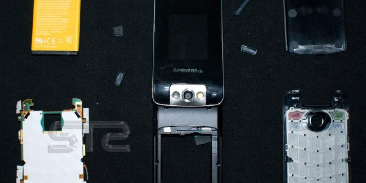 BlackBerry Pearl Flip 8220, al desnudo