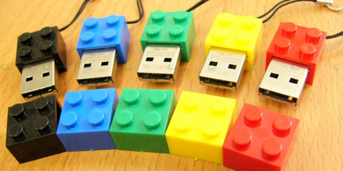 Pendrives con forma de Lego