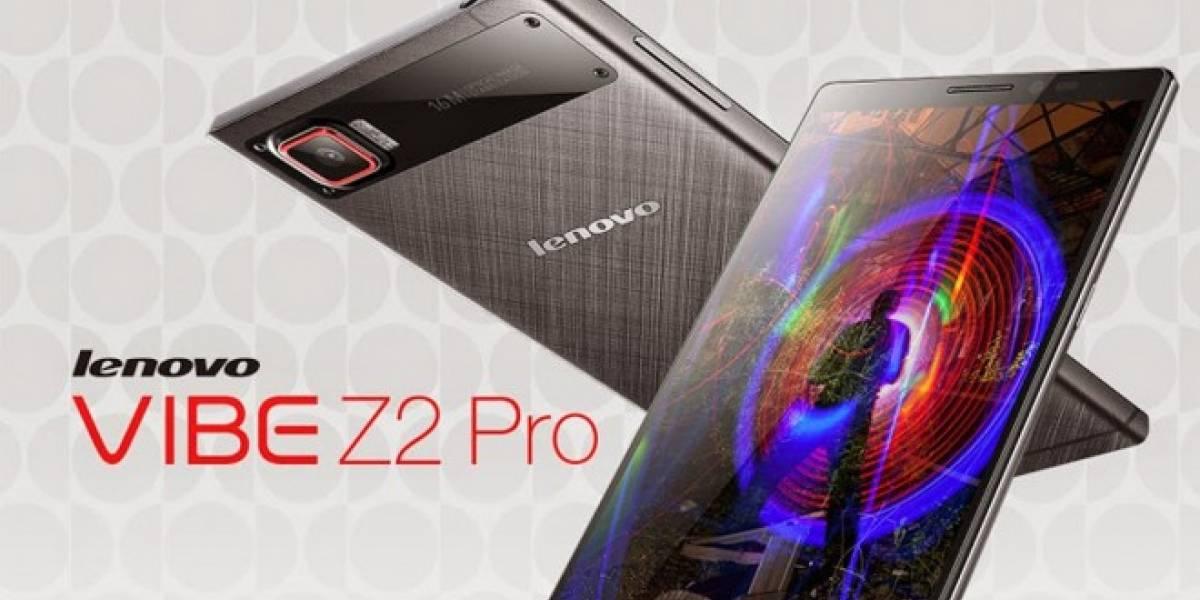 Lenovo lanza su nuevo smartphone tope de línea Vibe Z2 Pro