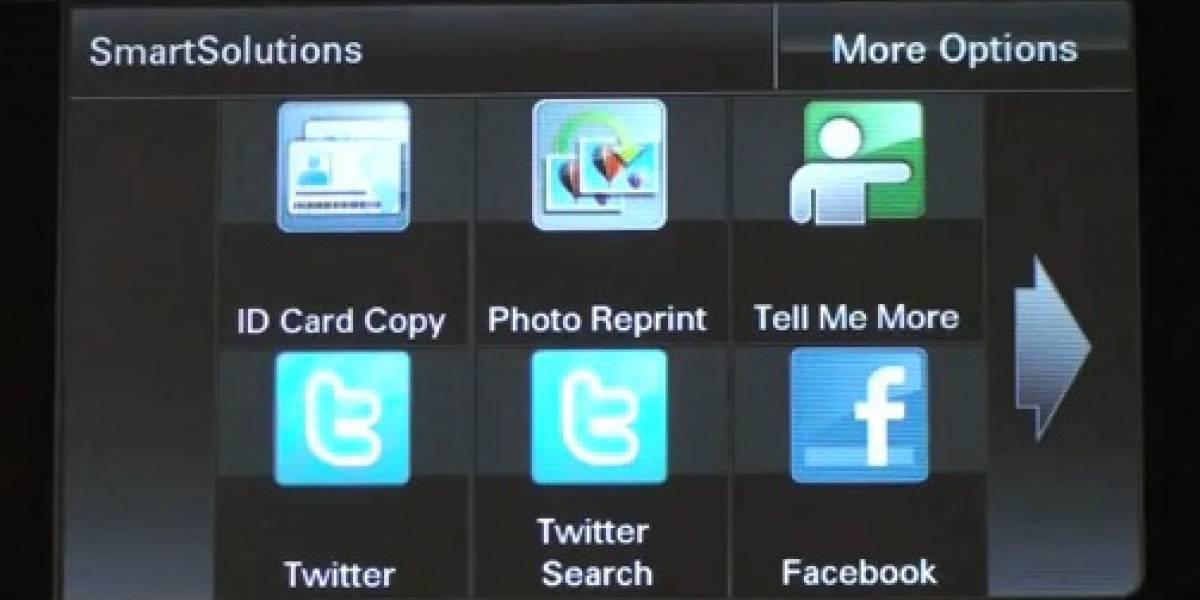 Lexmark agrega soporte a redes sociales en sus impresoras
