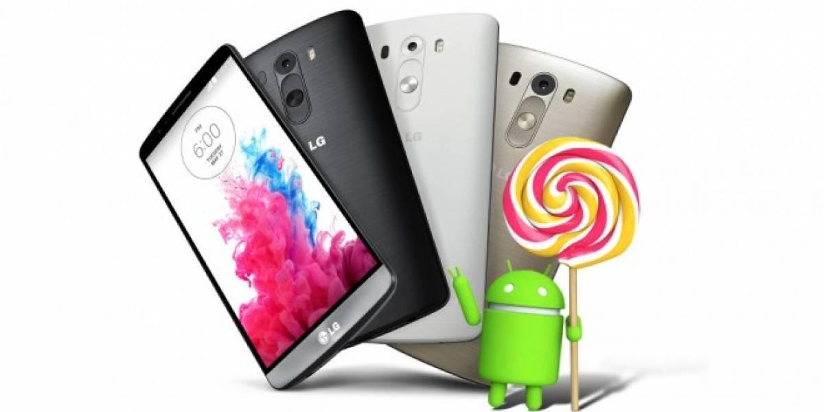 LG G3 ya comienza a recibir su porción de Android 5.0 Lollipop