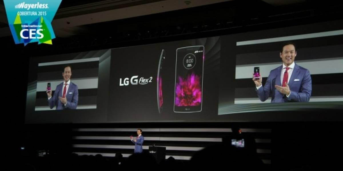 LG G Flex 2 se presenta oficialmente en #CES2015
