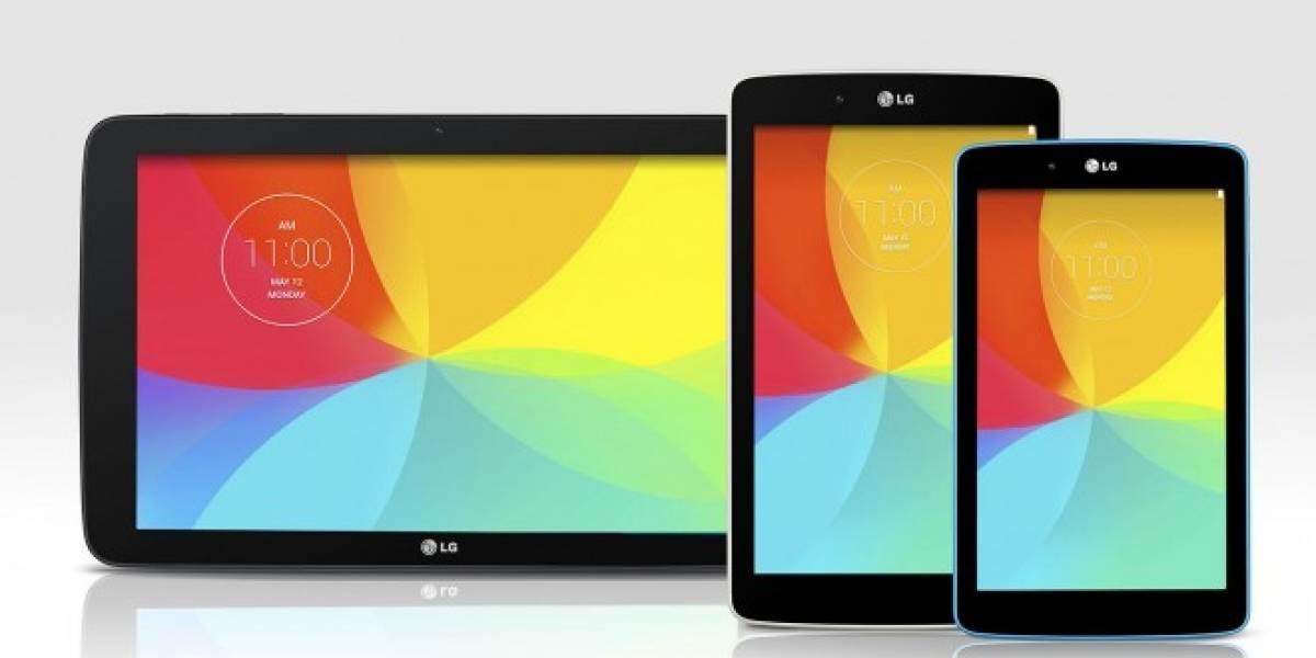 LG G Pad ahora tiene versiones de 7, 8 y 10 pulgadas